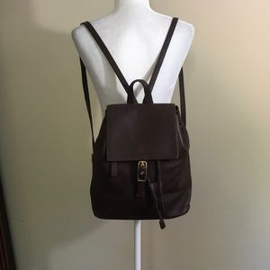 Vintage Coach Large Legacy Brown Leather Backpack